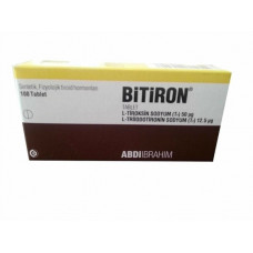 Bitiron 100 Tabs 50 Mcg (T4 and T3 MIX) Abdi Ibrahim