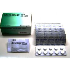 Glucophage (Metmorfin) 100 Tabs 850 Mg
